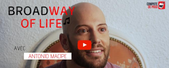 VIDÉO – L'interview comédie musicale d'Antonio Macipe