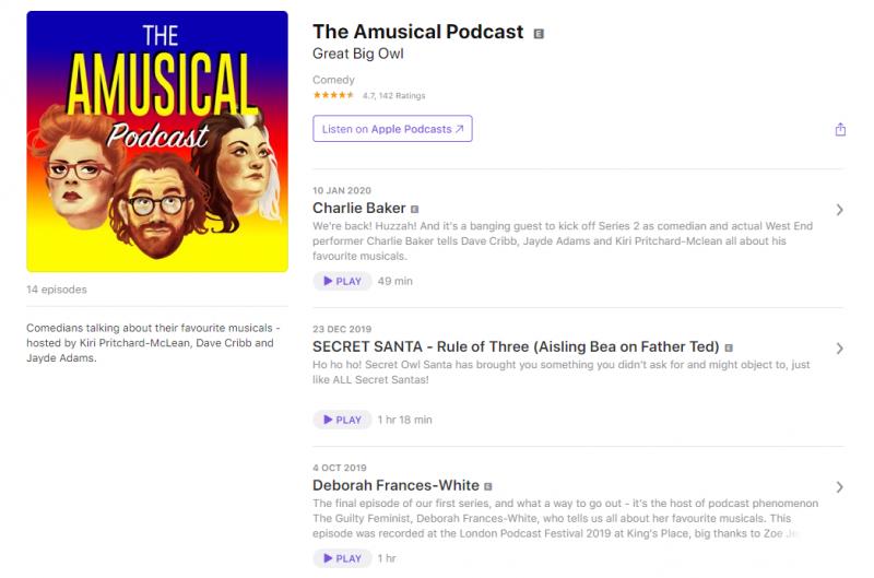 podcast comédie musicale