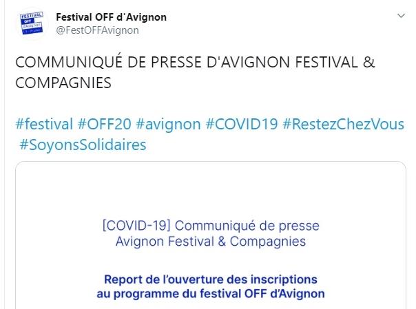 Festival d'Avignon OFF : Faut-il craindre une annulation ? 2