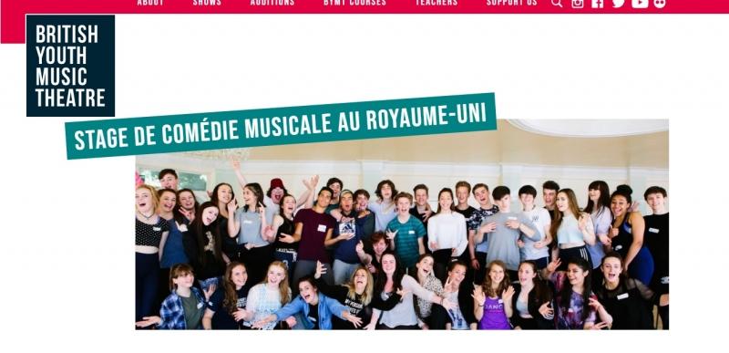 Cet été, je fais un stage de comédie musicale omédie Musicale au Royaume-Uni, British Youth Music Theatre